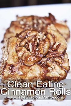 Clean Eating Cinnamon Rolls--wonder if I could get my husband to eat these instead of the ones that pop out of a tube.
