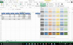 Tableau excel structure - valeur absolue et valeur relative