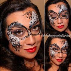 The amazing FabaTV instructor Shawna Del Real... #sillyfarm #fabatv #faceartist #facepainter #facepainters #facepainting #makeupaddict #makeupartists #makeupartistry
