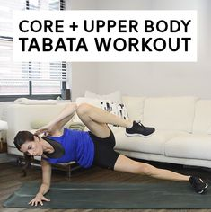 12-Minute Bodyweight Tabata Superset Workout: Core + Upper Body