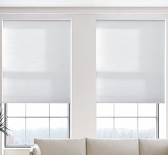Cordless Light Filtering Cellular Shade in Pure White Traditional Curtains, White Washed Furniture, Room Cooler, Painted Brick Walls, Honeycomb Shades, White Sheer Curtains, Cellular Shades, White Interior Design, Living Room Windows