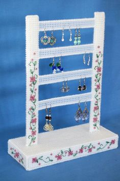 Plastic Canvas Patterns for Earrings Free Stuff Jewelry Organizer