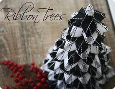 Ribbon Christmas Trees {Tutorial}