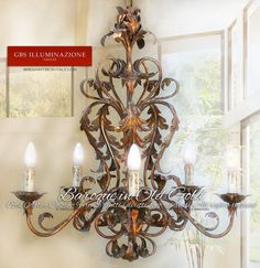 Baroque Chandelier Gbs Firenze Wrought Iron 6 Light In Old Gold