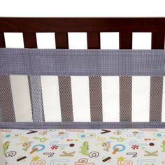 NoJo® ABC with Me by Jill McDonald 4-Piece Secure-Me Crib Liner - buybuyBaby.com