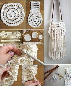 Precious Crochet Boho Tassel Bag - 31 Free Crochet Patterns That You will in Love with | 101 Crochet