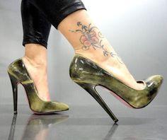 MORI MADE IN ITALY NEW HIGH SKY HEELS PUMPS SCHUHE SHOES LEATHER GREEN VERDE 39   Ropa, calzado y complementos, Calzado de mujer, Zapatos de tacón   eBay!