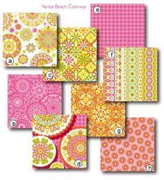 Venice Beach colorway in the 'Calfornia Dreamin' line ~ fabric designer Jenean Morrison #pattern #fabric