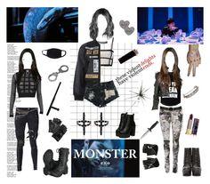 """Monster (EXO)"" by cristina-p on Polyvore featuring Balmain, Soda, O-Mighty, Urban Eclectics, Carolina Amato, PAM, Bianca Pratt, BERRICLE, Kokon To Zai and Wet Seal"