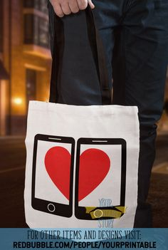 Give a unique gift for couples, and girlfriends who love phones with this smartphone love tote bag by Your Printable Story. A great anniversary gift idea, dating gift, relationship gift, or wedding gift. A practical gift that they will enjoy. Unique Gifts For Couples, Couple Gifts, Great Anniversary Gifts, Anniversary Cards, Galentines Day Ideas, Dating Gifts, Relationship Gifts, Practical Gifts, Cards For Friends