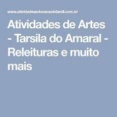 Atividades de Artes - Tarsila do Amaral - Releituras e muito mais