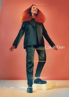 Grace Coddington - Calvin Klein 2016. For its Fall 2016, campaign the American brand has brought together some of the most iconic faces of our generation under the hashtag#mycalvins. Kate Moss, Grace Coddington, Bella Hadid, Frank Ocean, Zoë Kravitz, Cameron Dallas, Young Thug and Anna Ewers are just some of the international talents immortalised for the occasion byTyrone Lebon's lens.