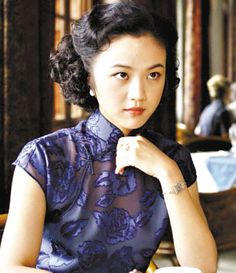 """tang wei's dresses in this film were gorgeous :: qi pao from """"lust, caution"""""""