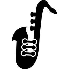 Saxofón variante silueta.