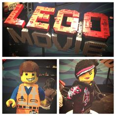 The LEGO Movie's Emmet and Wyldstyle at #SDCC 2013!