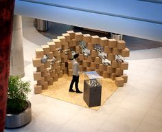 """Designers of mode:lina architekci architecture studio from Poznan created a pop-up store for Swedish watch manufacturer Triwa. """"November 19, at Galeria Malta shopping mall in Poznan in Poland, opened the first pop-up store for the brand, which make usef…"""