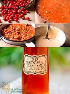 ŠÍPKOVÝ SIRUP 1 kg šípků vypereme, zalijeme 2 litry studené vody a rozmixujeme nahrubo ponorným mixérem. Uložíme dochladu na pět hodin a svaříme. Hrnec o... Dip Recipes, Sweet Recipes, Vegetarian Recipes Easy, Healthy Recipes, Food Club, Smoothies, Herbalism, Food And Drink, Herbs