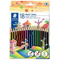 Staedtler Noris Colour Box includes soft lead pencils that have an easy grip barrel & non-slip rubberised surface, which makes them perfect for children. Coloring For Kids, Adult Coloring, Large Toiletry Bag, School Tool, School Stuff, Led Pencils, Credit Card Statement, Office Branding, Pencil Boxes
