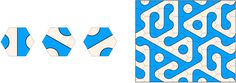 """Three rotations of an arch tile and an arch tiling. Figures for """"Duotone #Truchet-like Tilings"""""""