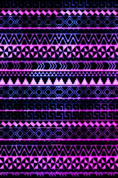 Purple pink blue laid out in tribal pattern