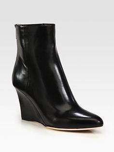Jimmy Choo - Mayor Leather Wedge Ankle Boots