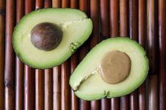 Peanut Butter Avocado  Pitted avocado half filled with Smooth Operator peanut butter.  Conceived By Lee ZalbenPhotography By Andrea Hernandez