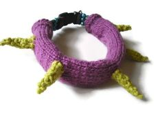 Knitted Spiked Dog Collar Cover by k9knitknots.com
