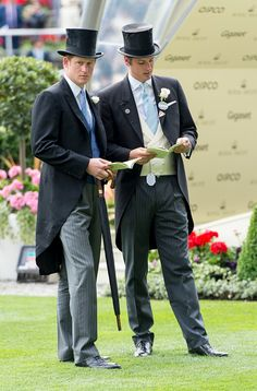(L) Prince Harry and Jake Warren on day 1 of Royal Ascot at Ascot Racecourse on June 16, 2015 in Ascot, England.