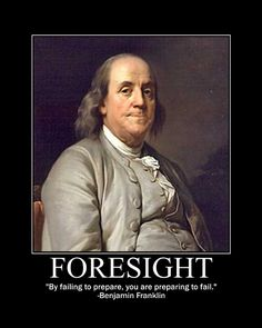 Motivational Posters: Benjamin Franklin on Foresight