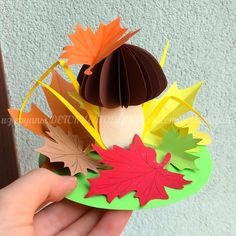 What a cool fall, mushroom pop up! After school crafts can be so creative and decorative! Fall Paper Crafts, Autumn Crafts, Fall Crafts For Kids, Diy For Kids, Kids Crafts, Diy And Crafts, Arts And Crafts, Baby Crafts, Toddler Crafts