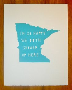 """Love this """"I'm So Happy"""" print from Two Sarah's on Etsy. Available for all 50 states. Wouldn't it be fun for a gallery wall?"""