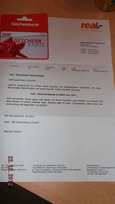 Real Newsletter- Gewinnspiel!!!! :: Ninatestet