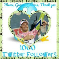 1000 Mercis à tous ! 1000 Grazie a tutti !  1000 Thanks to all ! 1000 Gracias a todos !  https://twitter.com/ivanbassoblogFR?s=01  @ivanbasso #ivanbasso #ivanbassoblogfr #twitter