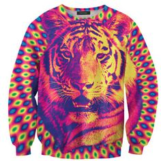 Psychedelic Tiger Sweater, 42€, now featured on Fab.