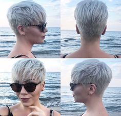 Today we have the most stylish 86 Cute Short Pixie Haircuts. We claim that you have never seen such elegant and eye-catching short hairstyles before. Pixie haircut, of course, offers a lot of options for the hair of the ladies'… Continue Reading → Short Hair Cuts For Women, Short Hairstyles For Women, Short Hair Styles, Short Hair In Back, Hair Cuts Edgy, Ladies Hairstyles, Long Hair, Short Pixie Haircuts, Haircut Short