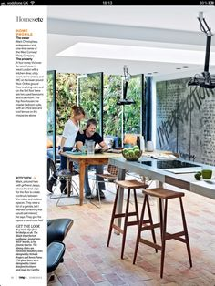 Kitchen. Light. Wood. Glass. Steel.