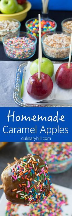 Homemade Caramel Apples are that magical mix of fresh, crisp apples and sweet, warm caramel sauce. Making them at home is a tasty treat with a side of fun!