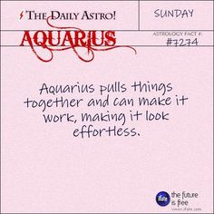 Aquarius 7274: Check out The Daily Astro for facts about Aquarius.