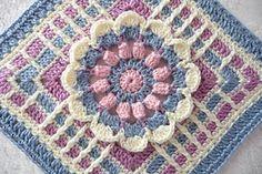 Transcendent Crochet a Solid Granny Square Ideas. Inconceivable Crochet a Solid Granny Square Ideas. Crochet Squares Afghan, Granny Square Crochet Pattern, Crochet Blocks, Crochet Flower Patterns, Basic Crochet Stitches, Afghan Crochet Patterns, Crochet Motif, Crochet Yarn, Cute Crochet