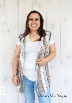 Maria's Blue Crayon: Hippie Dippie Vest - Free Crochet Pattern