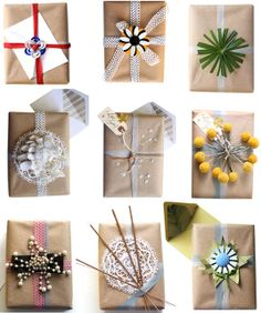 From nature - Gift Wrapping Ideas | Creative Gift Wrapping | The Gifted Blog