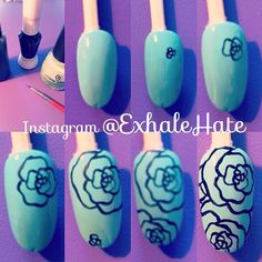 Follow me on Instagram @ExhaleHate for the full tutorial, other nail art…