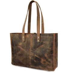 Amazing offer on KK's Leather 16 Inch Buffalo Leather Bags Women's Vintage Style Soft Leather Work Tote Large Shoulder Bags online - Nanaclothing Leather Purses, Leather Handbags, Leather Bags, Soft Leather, Leather Totes, Cheap Purses, Purses And Bags, Popular Purses, Vintage Ladies