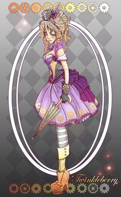 Lolita Steampunk Twinkleberry  by ~NoFlutter  Manga & Anime / Digital Media / Drawings©2011-2012 ~NoFlutter