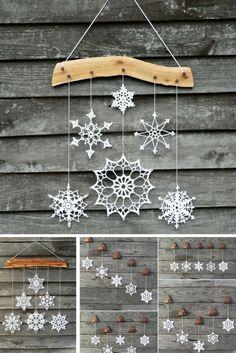 81 схема снежинок крючком и идеи для вдохновения - fulya - 81 patrón de copo de nieve de ganchillo e ideas para la inspiración - fulya - # inspiración # para # y # ideas deko Crochet Snowflake Pattern, Christmas Crochet Patterns, Holiday Crochet, Crochet Snowflakes, Christmas Knitting, Crochet Motif, Crochet Ornaments, Crochet Mandala, Diy Crochet