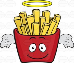 Burger Cartoon, Vector Clipart, Vector Illustrations, Facial Expressions, French Fries, Emoji, Packing, Clip Art, Red
