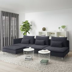 SÖDERHAMN sofa, with chaise longue and open end/Finnsta turquoise - IKEA Ikea Soderhamn, Söderhamn Sofa, Ikea Sofas, Ikea Family, Bed Slats, Comfortable Sofa, Sit Back And Relax, Fabric Sofa, Seat Cushions
