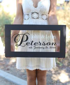 Look at this Personalized Newlywed Sign on #zulily today!