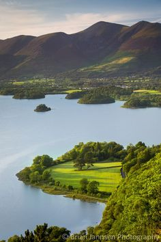 Derwentwater and town of Keswick, the Lake District, Cumbria, England. ©️️ Brian Jannsen Photography