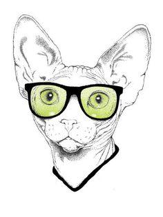 Oh my, this is soooo my cat!!!! nerdy love!